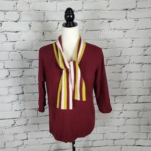 Boden Ellie Neck Tie Wool Blend Sweater
